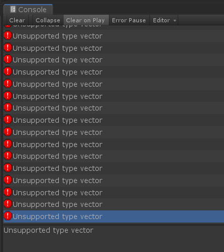 UnsupportedTypeVector